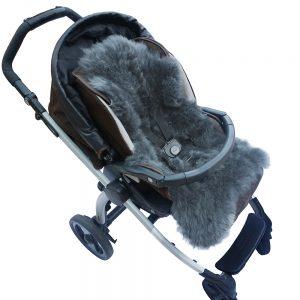 Baby Lammfell für Kinderwagen / Autositz