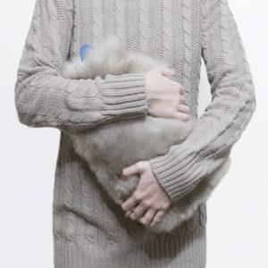 kozusinovy termofor sivy