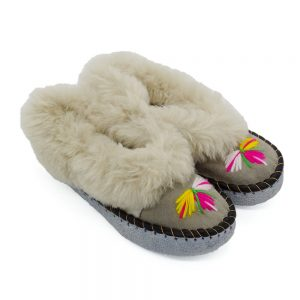 Kožušinové papuče – dámske